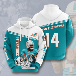 NFL Miami Dolphins 3D Hoodie V10