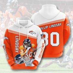 NFL Denver Broncos 3D Hoodie V10