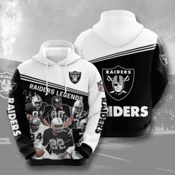 NFL Oakland Raiders 3D Hoodie V11