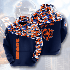 NFL Chicago Bears 3D Hoodie V11