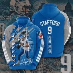 NFL Detroit Lions 3D Hoodie V11