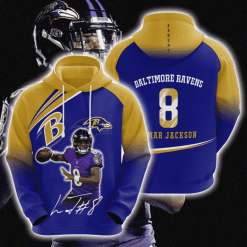 NFL Baltimore Ravens 3D Hoodie V12