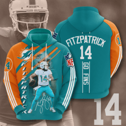NFL Miami Dolphins 3D Hoodie V12
