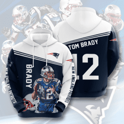 NFL New England Patriots 3D Hoodie V12