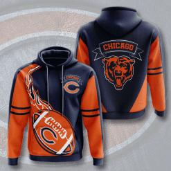 NFL Chicago Bears 3D Hoodie V12