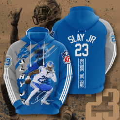 NFL Detroit Lions 3D Hoodie V12