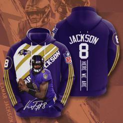 NFL Baltimore Ravens 3D Hoodie V13