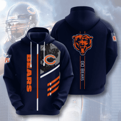 NFL Chicago Bears 3D Hoodie V13