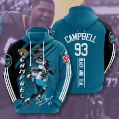 NFL Jacksonville Jaguars 3D Hoodie V14