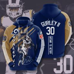 NFL Los Angeles Rams 3D Hoodie V14