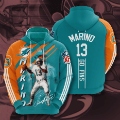 NFL Miami Dolphins 3D Hoodie V14
