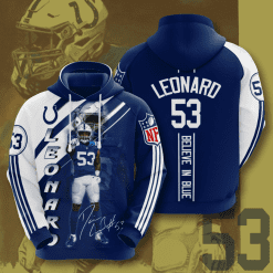 NFL Indianapolis Colts 3D Hoodie V14