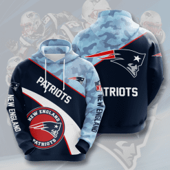 NFL New England Patriots 3D Hoodie V15