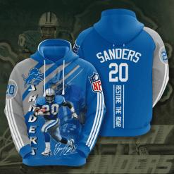 NFL Detroit Lions 3D Hoodie V15