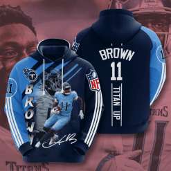 NFL Tennessee Titans 3D Hoodie V16