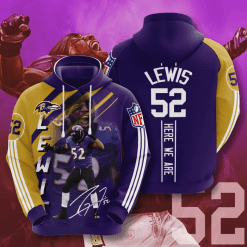 NFL Baltimore Ravens 3D Hoodie V18