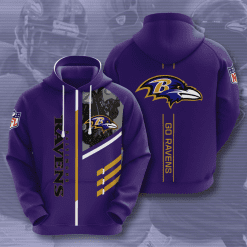 NFL Baltimore Ravens 3D Hoodie V2