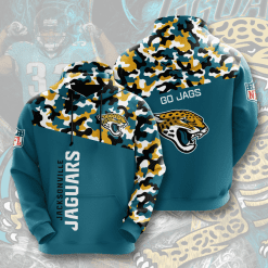 NFL Jacksonville Jaguars 3D Hoodie V2