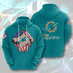 NFL Miami Dolphins 3D Hoodie V2