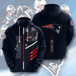 NFL New England Patriots 3D Hoodie V2
