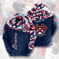 MLB Atlanta Braves 3D Hoodie V2
