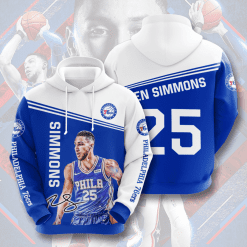 NBA Philadelphia 76ers 3D Hoodie V2