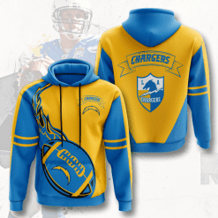 NFL Los Angeles Chargers 3D Hoodie V3