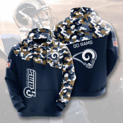 NFL Los Angeles Rams 3D Hoodie V3