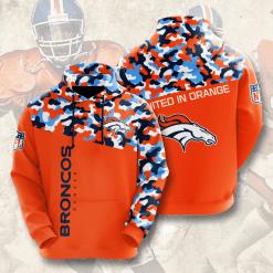 NFL Denver Broncos 3D Hoodie V3