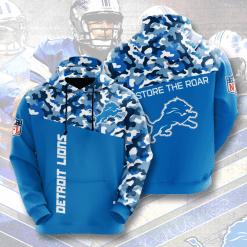 NFL Detroit Lions 3D Hoodie V3