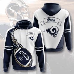 NFL Los Angeles Rams 3D Hoodie V4