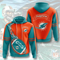 NFL Miami Dolphins 3D Hoodie V4