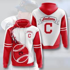 MLB Cleveland Indians 3D Hoodie V3