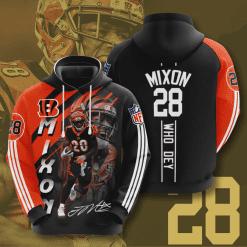 NFL Cincinnati Bengals 3D Hoodie V4