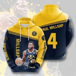 NBA Denver Nuggets 3D Hoodie V4