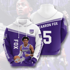 NBA Sacramento Kings 3D Hoodie V4