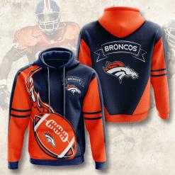 NFL Denver Broncos 3D Hoodie V4