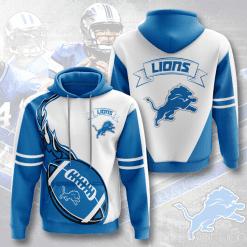 NFL Detroit Lions 3D Hoodie V4