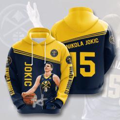 NBA Denver Nuggets 3D Hoodie V5