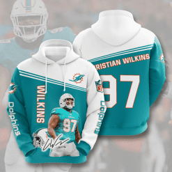 NFL Miami Dolphins 3D Hoodie V6