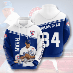 MLB Texas Rangers 3D Hoodie V6