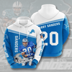 NFL Detroit Lions 3D Hoodie V6