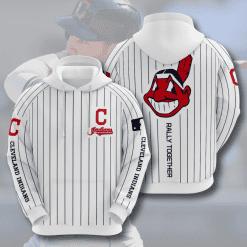 MLB Cleveland Indians 3D Hoodie V7