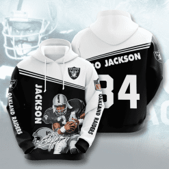 NFL Oakland Raiders 3D Hoodie V8