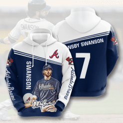 MLB Atlanta Braves 3D Hoodie V8