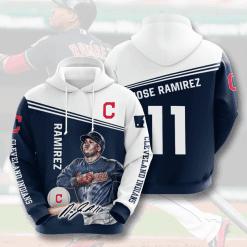 MLB Cleveland Indians 3D Hoodie V8
