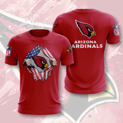 NFL Arizona Cardinals 3D T-Shirt V1