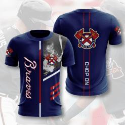 MLB Atlanta Braves 3D T-Shirt V1