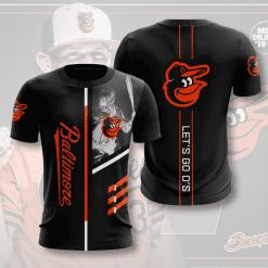 MLB Baltimore Orioles 3D T-Shirt V1