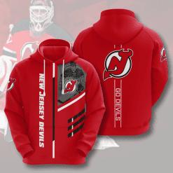 NHL New Jersey Devils 3D Hoodie V1
